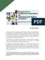 El papel de las instituciones educativas en Administración Pública en Sonora_Propuestas
