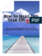 How to Make This Year the Year