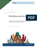 Rebuilding Corporate Reputation