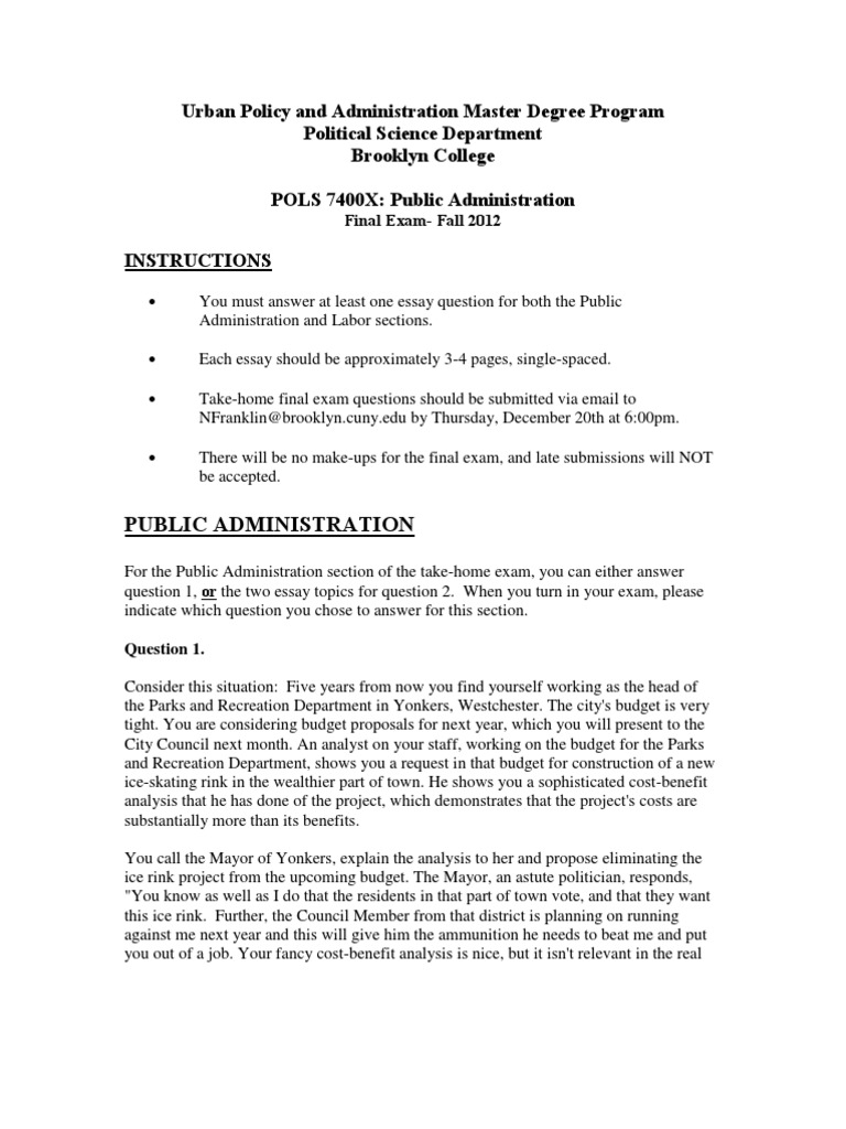 public administration 3 essay Public administration and management mpa  assessment is through a variety  of methods, including essays, unseen examinations, graded coursework and a   89% rated 4 ('world-leading') or 3 ('internationally excellent'.