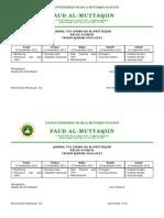 Jadwal Tes Ganjil 2012-2013