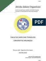 Faktor Individu Dalam Organisasi