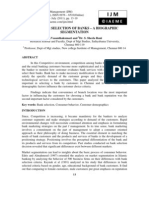 CUSTOMER SELECTION OF BANKS – A BIOGRAPHIC SEGMENTATION