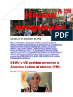 Noticias Uruguayas sábado 15 de diciembre del 2012