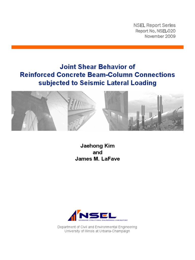 joint shear behavior of reinforced concrete beam-columns connections  subjected to seismic load | Strength Of Materials | Yield (Engineering)