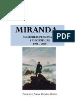 Miranda. Memorias personales y filosóficas 1996 - 2008
