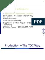 Constraint management TOC