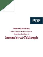 Scholars of Ahl-us-Sunnah Regarding Jamaa'at-ut-Tableegh