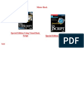 Using VBScript and Special Edition Using JScript | Internet