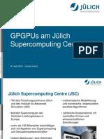 Zki Sc 2012 Kaiserslautern Jochen Kreutz GPGPUs Am Juelich Supercomputer Center