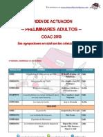 ADULTOS COAC 2013 - Orden de actuación preliminares
