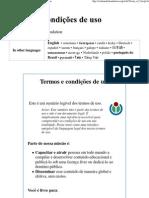 Termos e condições de uso - Wikimedia Foundation