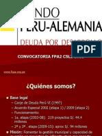 Convocatoria Fondo Perú -Alemania C5L2-2011 - RRSS