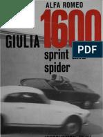 Giulia 1600 Sprint e Spider U&M