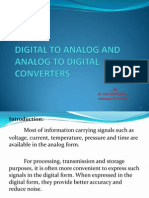 Analog to Digital & Digital to Analog Converters