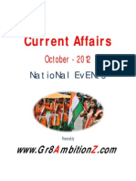 National Events - October 2012