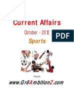 October Month Current Affairs - Sports