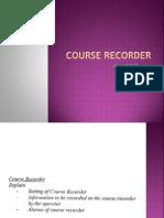 Course Recorder