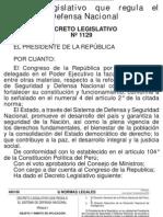 DL 1129 Se regula el SISTEMA DE DEFENSA NACIONAL