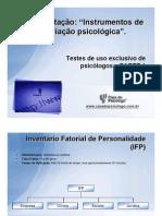 Apresentação de testes Psicológicos