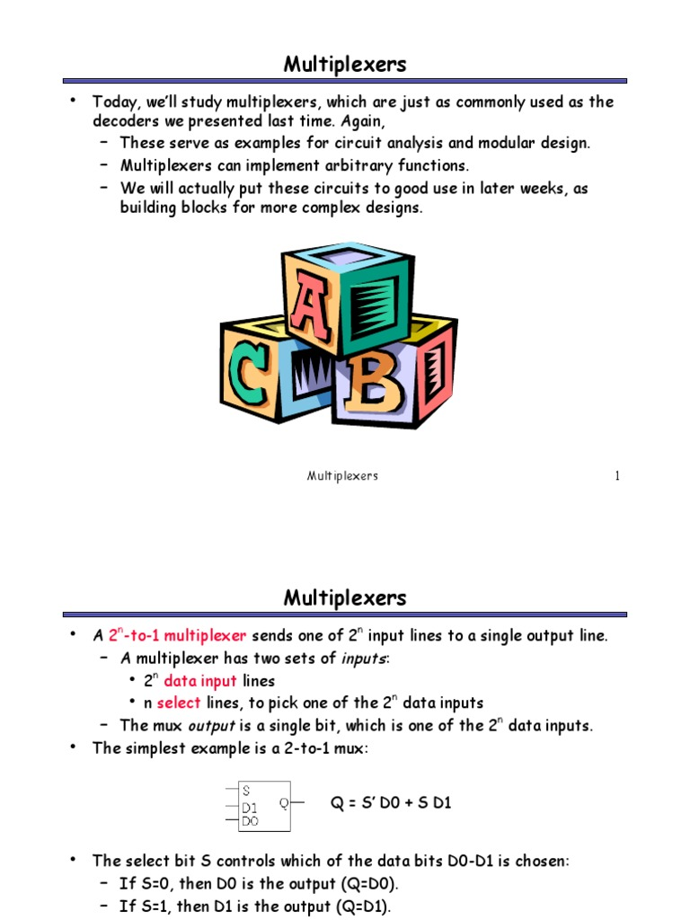 Multiplexers Computer Engineering Electronic Block Diagram Or Logic Of 4x1 Multiplexer Mux