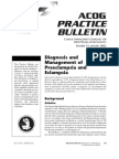 No. 33. Diagnosis and Management of Preeclampsia and Eclampsia