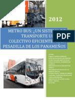 investigación Metrobus Panamá