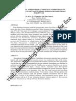 Studi Biosintesis Antibiotika Dan Aktivitas Antibiotika Dari Jamur Penicillium Chrysogenum Pada Berbagai Kondisi Proses Fermentasi