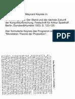 Keynes'  1933 Program of a Monetary Theory of Production.