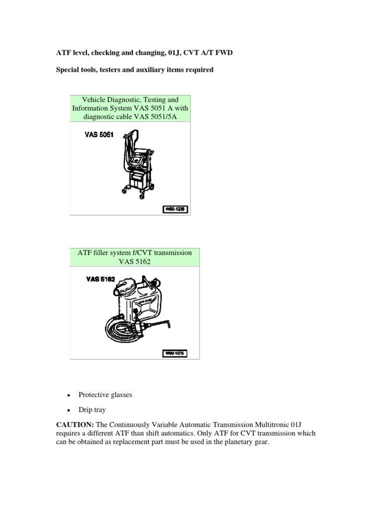 AUDI CVT MAINTENANCE MANUAL | Automatic Transmission
