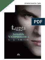 L.J. Smith - Jurnalele Vampirilor-2-Lupta