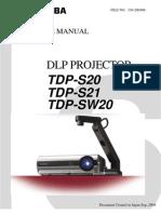 Toshiba TDP-S20 Service Manual