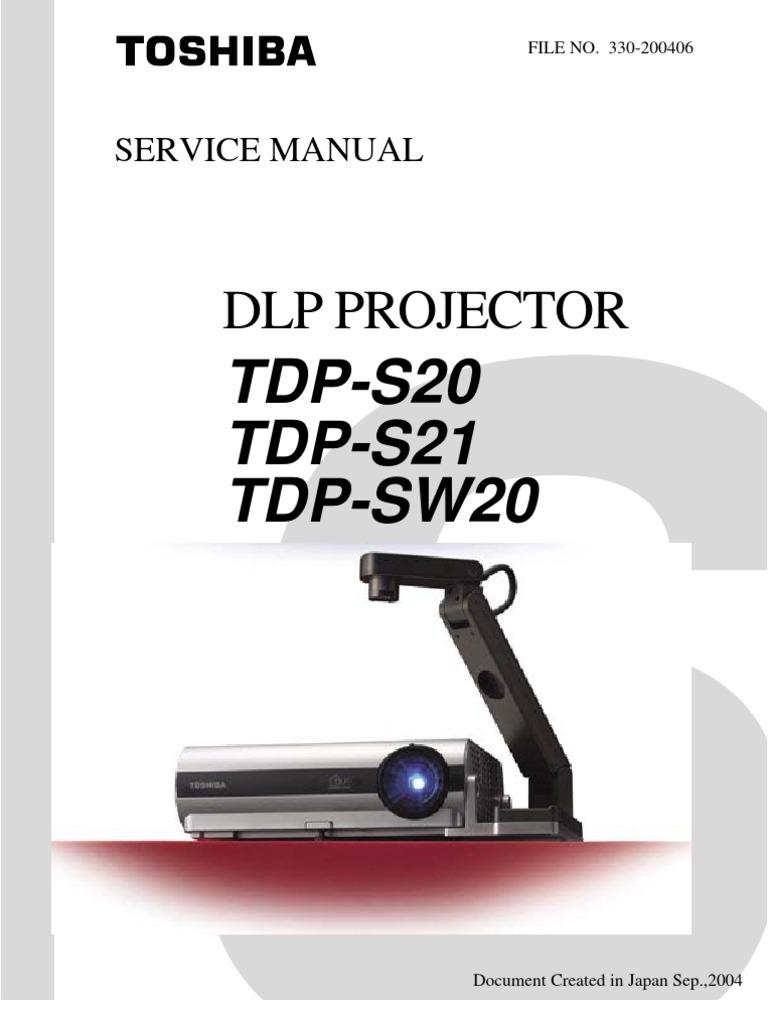toshiba dlp service manual