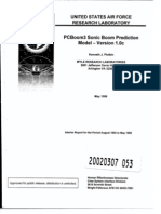 PCBoom Sonic Boom prediction model