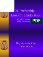 21 Laws of Leadership With Bible Examples