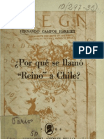 a ¿Porqué se llamó ''Reino'' de Chile