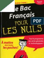 Le Bac de Fran Ais Pour Les Nuls