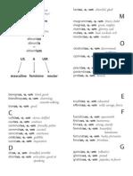 Latin Adjective Dictionary (Latin to English)