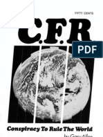 Gary Allen - The C.F.R.; Conspiracy To Rule The World (Apr 1969)