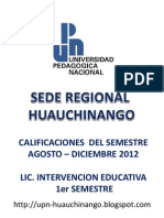 Calificaciones LIE 1er SEMESTRE