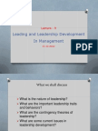 Lecture 9 - Leading and Leadership