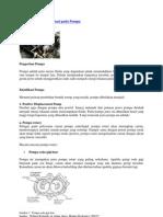 Pengertian Dan Klasifikasi Pada Pompa