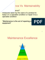 Maintenance Vs Maintanability