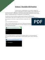 How to Make Windows 7 Bootable USB Pendrive