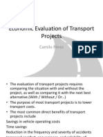 Economic Evaluation of Transport projects