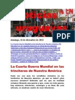 Noticias Uruguayas Domingo 16 de Diciembre Del 2012