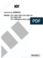 Brother PT-1100, 1130, 1170, 1180, 11q, 1160, 1250, St1150 Service Manual