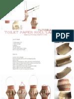 Tutorial paper roll christmas lantern