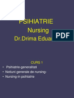 1 Psihiatrie-Nursing Generalitati Nursing Psihiatiric