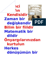 Öğrenci Sınıfın Kendisidir   TURKISH 17 Eğitim İlkesi Transformation of Education Version 2